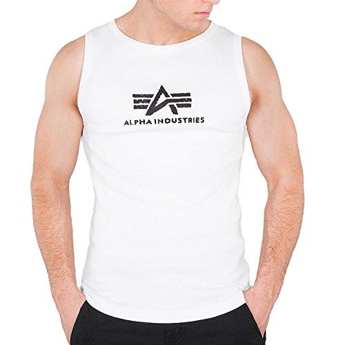 Alpha Industries Herren Tank Tops Logo weiß M