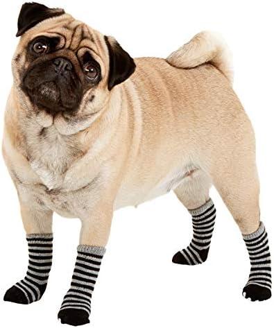 Sockies Chaussettes Pour Chien Noir Gris Taille S 45 Mm X 35 Mm Amazon Fr Animalerie