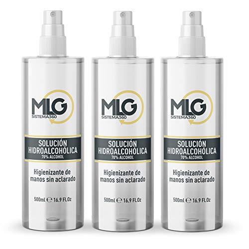 Pack Total Safe 3 x 500ml Spray | Ideal para una higiene profunda de manos - Hidroalcoholico Liquido envase con Aerosol