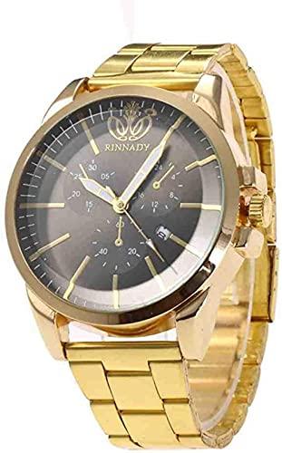 Mano Reloj Reloj de pulsera Moda Relojes de pulsera Mujeres Crystal Steel de acero inoxidable Analógico Estudiante Deportes Reloj de pulsera Oro Negro Reloj masculino Relojes Decorativos Casuales