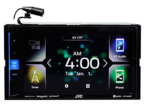 JVC KW-M650BT Digital Media Receiver with Bluetooth, 6.2' Touch Screen & Apple CarPlay Compatible