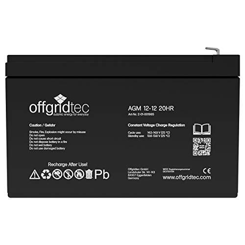 Offgridtec® AGM 12Ah 20HR 12V - Solar Batterie Akku Extrem zyklenfest