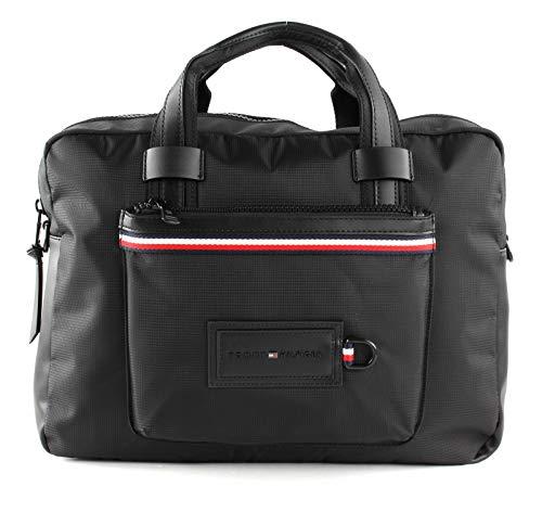 Tommy Hilfiger Herren Modern Nylon Conv Computer Bag Schultertasche, Schwarz (Black), 10x30x40 centimeters