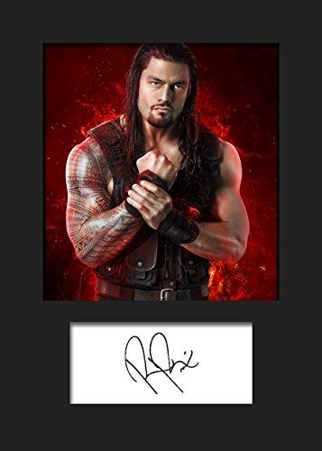 Roman Reigns WWE | Signierter Fotodruck | A5 Größe passend für 6x8 Zoll Rahmen | Maschinenschnitt | Fotoanzeige | Geschenk Sammlerstück
