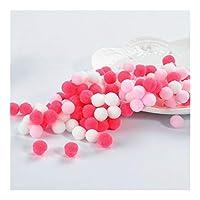 MIYU PomPomのミニふわふわソフトポンポンPOMSふわふわぬいぐるみボール子供たちのおもちゃ手作りの結婚式の装飾ユーイングクラフト用品 (Color : Rose pink series, Size : 30mm 20pcs)