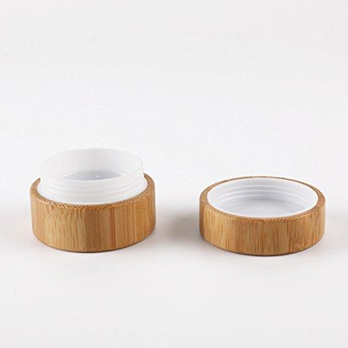 Alamor 1 Pcs 10G d'origine Bouteille De Crème De Bambou Haute Qualité Crème De Bambou Bouteille Cosmétique Dispensing Crème Boîte De Stockage