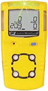 BW Technologies by Honeywell Yellow MicroClipXL Carbon Monoxide, Hydrogen Sulfide And Oxygen Detector