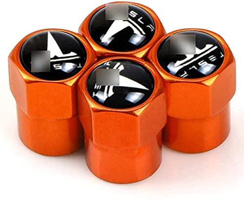 4 Piezas Neumáticos Tapas Válvulas para Tesla Model 3 Model S Y X, Antipolvo Tapones de Coche Decoración Accesorios
