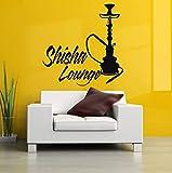 Vinyl Aufkleber Wandtattoo Wand-dekor Poster Kunst Shisha Wasserpfeife Wasserpfeife Haus Cafe Rauch...