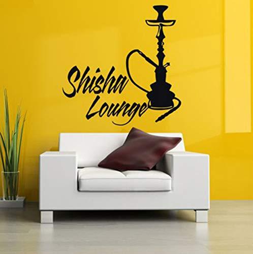Vinyl Aufkleber Wandtattoo Wand-dekor Poster Kunst Shisha Wasserpfeife Wasserpfeife Haus Cafe Rauch Shop Außen Schild 42x42cm