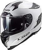 Casco moto LS2 FF327 CHALLENGER SOLID Bianco, Bianco, M