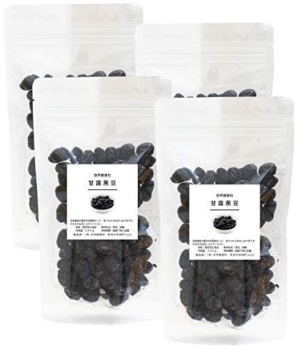 自然健康社 国産・甘露黒豆 200g×4個 チャック付袋入り
