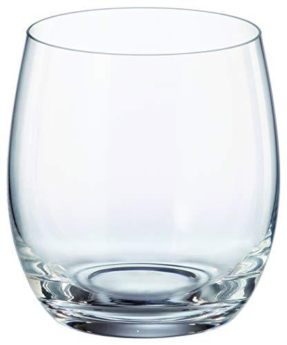 Crystalite Bohemia - Pollo Mergus Non Leaded Crystal Stemless Wine Glasses, Set of 6 (Wine Glass, 13.5 oz.)