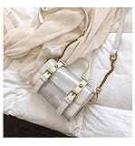 Lussebaby - Bolso de mujer de PVC con cadena transparente, más uso diario de compras, fiesta, cóctel, fiesta, fiesta, playa, viaje, mochila de viaje, 3