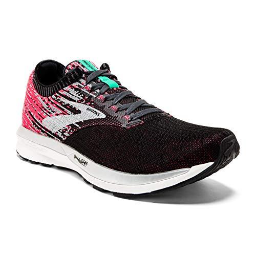 Brooks Womens Ricochet Running Shoe - Pink/Black/Aqua - B - 10.5