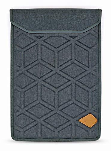 Lymmax Sacoche pour ordinateur portable 15,6 pouces, mallette pour ordinateur portable antichoc verticale avec poche pour fermeture à glissière, sac de transport étanche en EVA avec poignée rembourrée