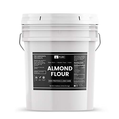 Almond Flour (5 Gallon Bucket, 25 lbs), Gluten-Free, Blanched, Finely Ground, Vegan, Paleo & Keto Friendly, Strong Resealable Bucket (Also Available in 1 Gallon Bucket)