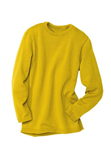Disana Basic-Pullover - 86/92 - curry