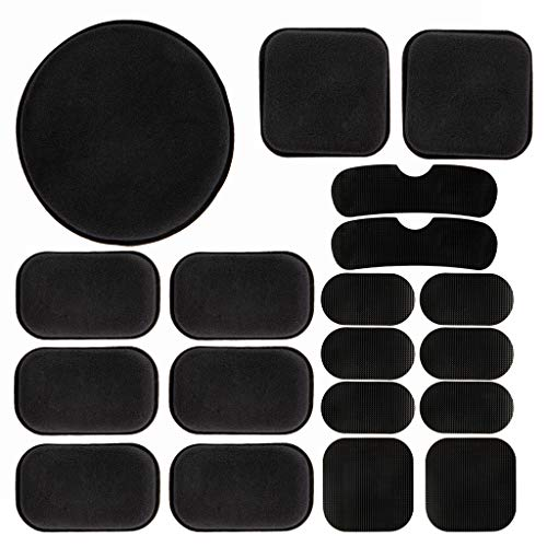 PAXLamb Universal Airsoft Helmet Pads 19pcs/Set Tactical Helmet Replacement EVA Foam Motorcycle Padding Kits Bicycle Bike Accessories Mats for Fast Mich CS ACH FMA USMC PASGT (Black)