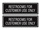 Restrooms for Customer Use Only Sticker Signs (Pack of 2)