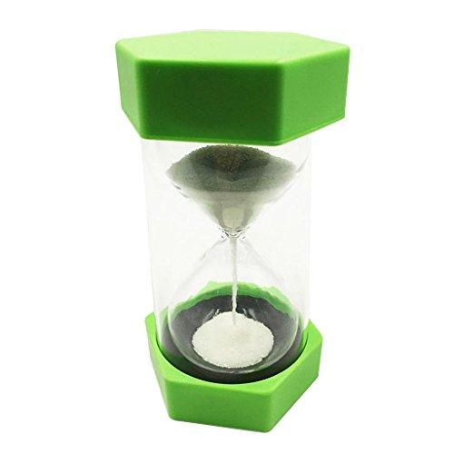perfk Reloj de Arena con Temporizador de Arena de 5 Minutos con Accesorios de Fiesta de Arena Blanca Que Brillan en La Oscuridad