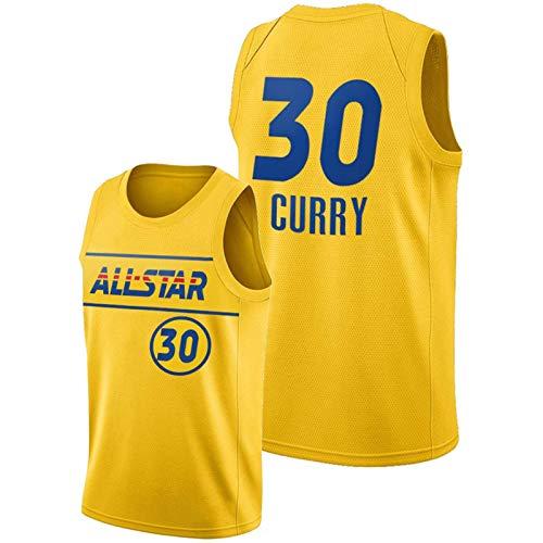 Golden State Warriors Stephen Curry Jersey para Hombres, 2021 Jerseys de Baloncesto de la Nueva Temporada de All-Star, Camiseta Transpirable y cómoda (S-XXL) S
