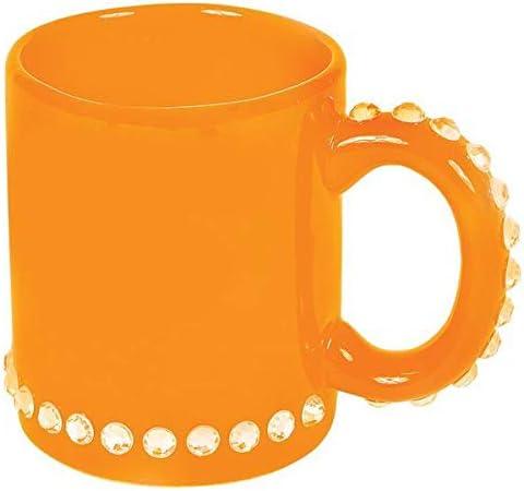 DollarItemDirect Ceramic Inexpensive Orange Mug with of Case Rhinestone Large-scale sale 144