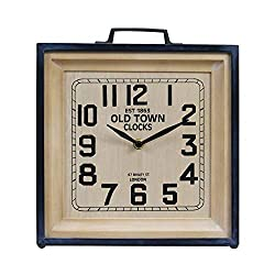 NIKKY HOME 12 Inch Old Town Table Clock - Battery Operated Vintage Classic Mantel Clock for Living Room Decor Shelf - Chic Home Décor for Desktop, Countertop