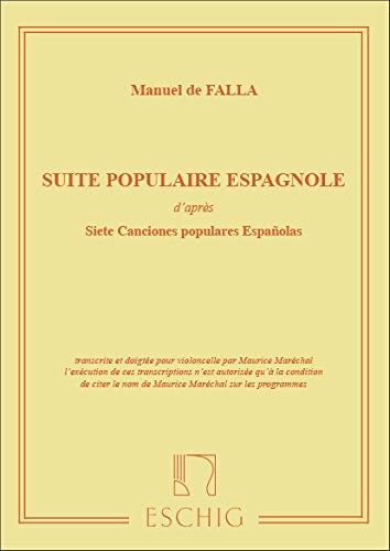 FALLA - Suite Popular Española (Adap.de 7 Canciones Populares Españolas) para Violoncello y Piano