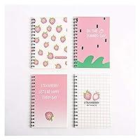 Stationery 60桜カバーA5ノートパッドの簡単なメモ帳ルーズリーフノート韓国ハードカバーの日記、原稿。 Educational Supplies (Color : Burgundy)