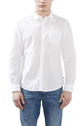 ESPRIT 997EE2F802 - Basic, Camisa Hombre, Blanco (WHITE), X-Large