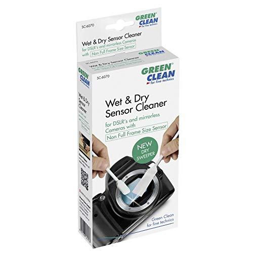 GREEN CLEAN Dry Sweeper´s Wet und Dry Sensor Cleaning System für Non Full Frame Size Sensoren grün