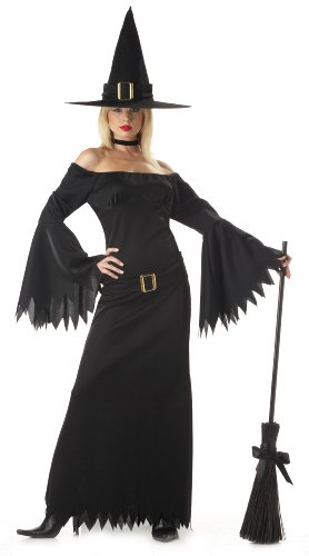 Women's Black Witch Costumes - California Costumes Women's Elegant Witch