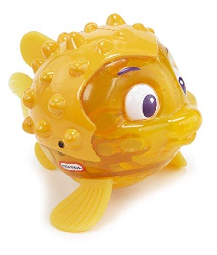 little tikes 173851GR Sparkle Bay Funkelfisch Kugelfisch, Wasserspielzeug mit Leucht- und Schwimmfunktion, gelb