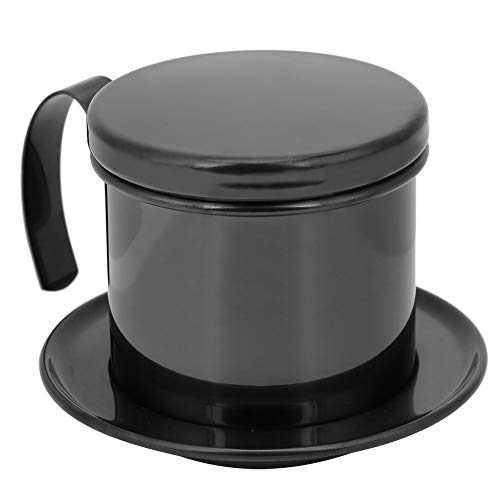 Vietnamese Drip Coffee Maker, with Fine Filter Screen Vietnam Vietnamese Coffee Simple Drip Filter Maker Best Gift Choice for Baristas and Coffee Lovers(Bright Black)