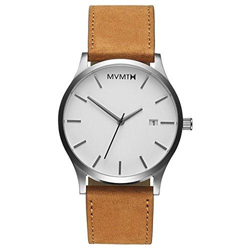 MVMT Herren Analog Quarz Uhr mit Leder Armband D-L213.1L.331