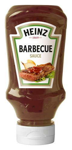 Heinz Barbecue Sauce Kopfsteherflasche, 4er Pack (4 x 220 ml)