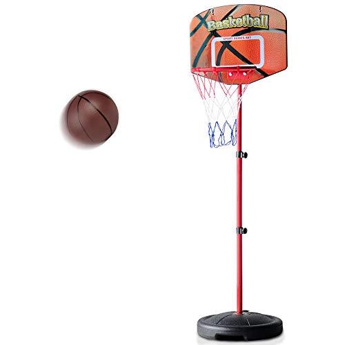 Basketballkorb Kinder fürs Zimmer Basketball Korb mit Ständer Outdoor Spiele für Kinder Höhenverstellbar 76 bis 156cm ab 3 4 5 6 Jahre Alt (Mehrweg)
