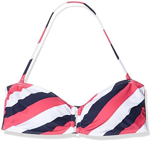 Palmers Damen Bikini Triangel Top Beach Stripes Bikinioberteil, Blau (Blau-Bunt 583), 44 (Herstellergröße (Cupgröße B/Größe L))