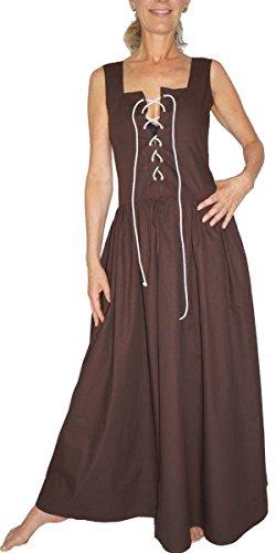 MAYLYNN - Mittelalter Kleid Kostüm Überkleid DEFEKT Magd Bäuerin Wirtin Celia - Baumwolle - Gr. S