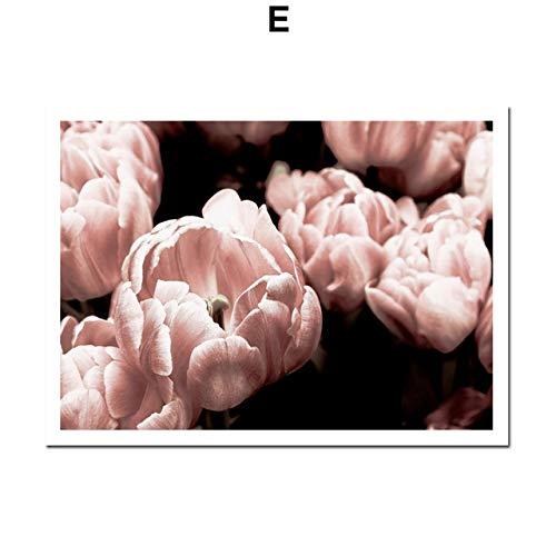 LiMengQi2 Marokko tür Blume Pflanze wüste Zitate Nordic Poster und drucke wandkunst leinwand malerei wandbilder für Wohnzimmer Dekoration (Kein Rahmen)
