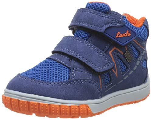 Lurchi Baby-Jungen Jorge-TEX Sneaker, Blau (Cobalt Orange 42), 23 EU
