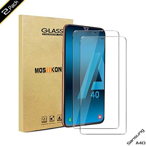 MOSIIKON FengKS- Protector Pantalla Samsung Galaxy A40, 9H Dureza - Alta Transparencia - 2.5D Bord, Cristal Templado Samsung Galaxy A40 Adsorcion automatica, Instalación más Sencilla