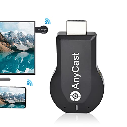 Anycast HDMI Wireless Display Adapter WiFi 1080P Mobile Screen Mirroring Receiver Dongle to TV/Projector Receiver Support Windows Android Mac iOS - Black