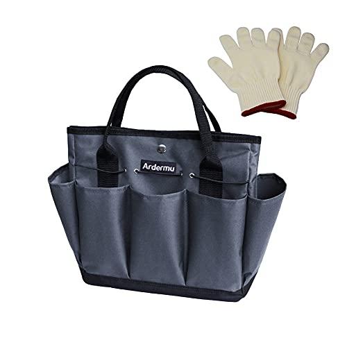 Ardermu Gartenwerkzeug Tasche - Gartenwerkzeug Aufbewahrungstasche - Gartengeräte Tasche mit 8 Taschen Oxford Tuch - für den Innen- und Außenbereich