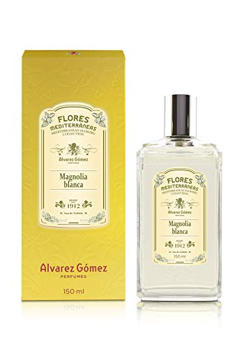 Alvarez Gomez Flores Mediterráneas, Magnolia Blanca, Eau de Toilette, Floral, 150 Mililitros