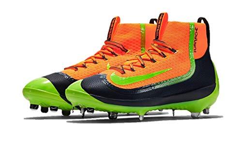 Nike Air Huarache 2KFILTH Elite Mid Baseball Cleats Orange/Anthracite/Volt (8)