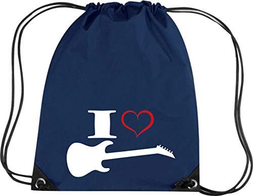 Camiseta Stown Premium gymsac Música I Love–Guitarra eléctrica