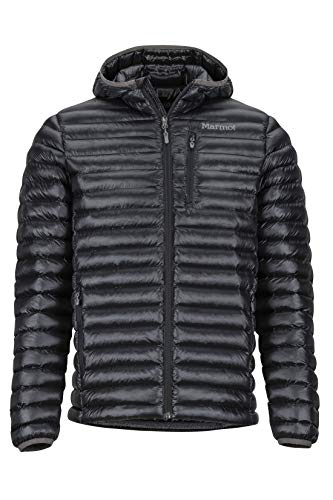 Marmot Herren Ultra-leichte Isolierte Winterjacke, Warme Outdoorjacke Mit Kapuze, Wasserabweisend, Winddicht Avant Featherless Hoody, Black, M, 74730
