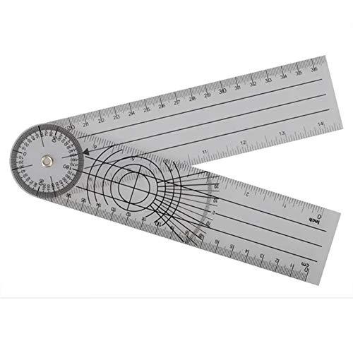 Herramienta de medición Multi-Regla goniómetro de ángulo espinal profesional regla de 360 grados